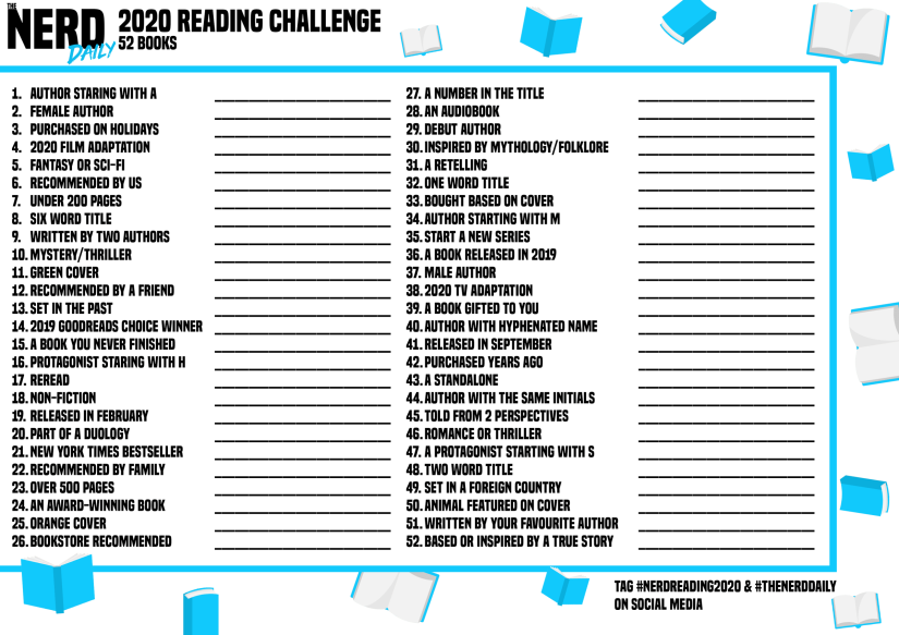 2020-Reading-Challenge nerd daily
