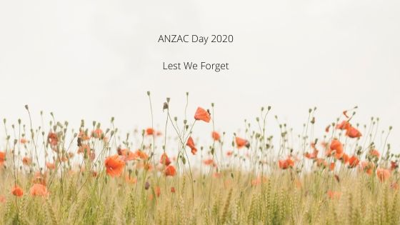 ANZAC Day 2020 Lest We Forget