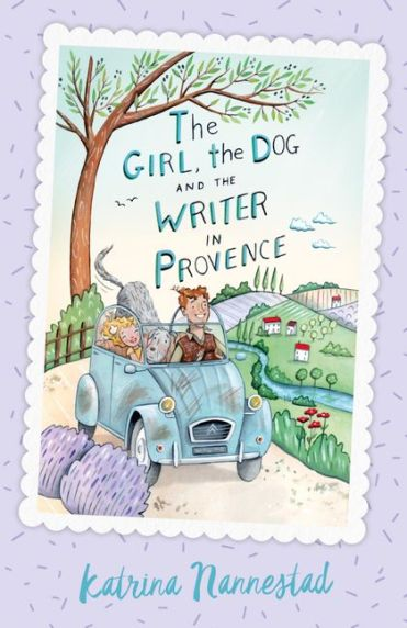 girl dog writer provence