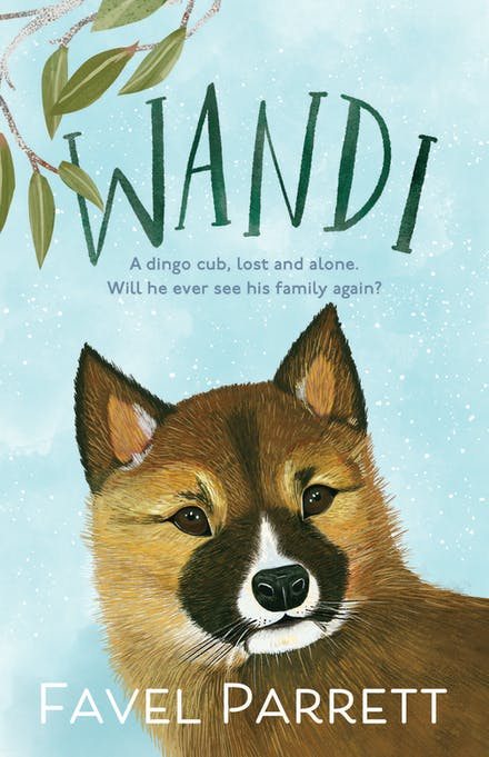 A blue cover with a dingo on it.